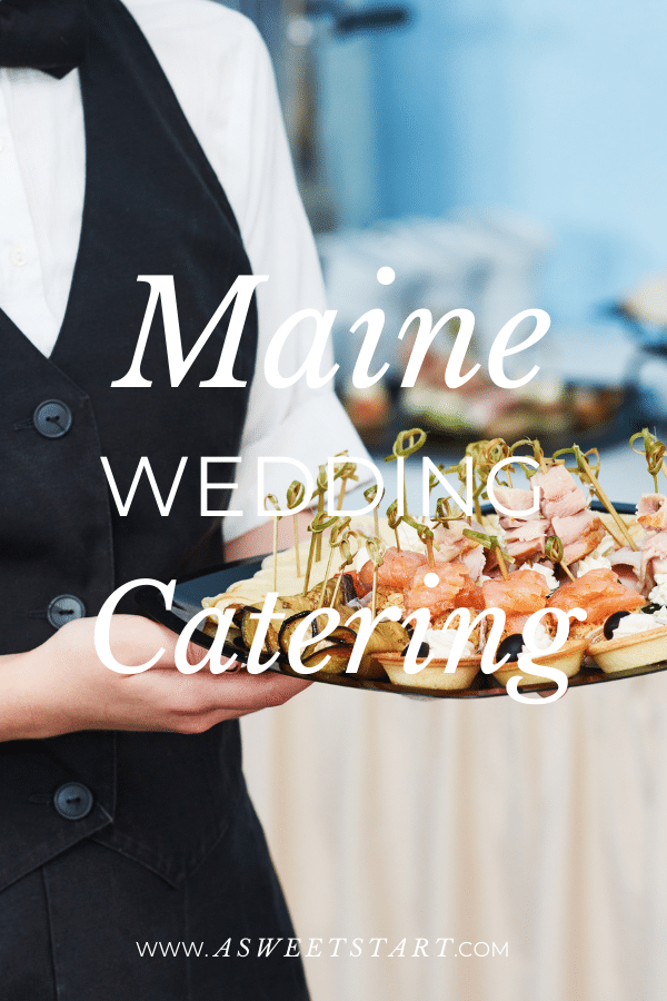 Caterer at a wedding serving passed hors'doeuvres