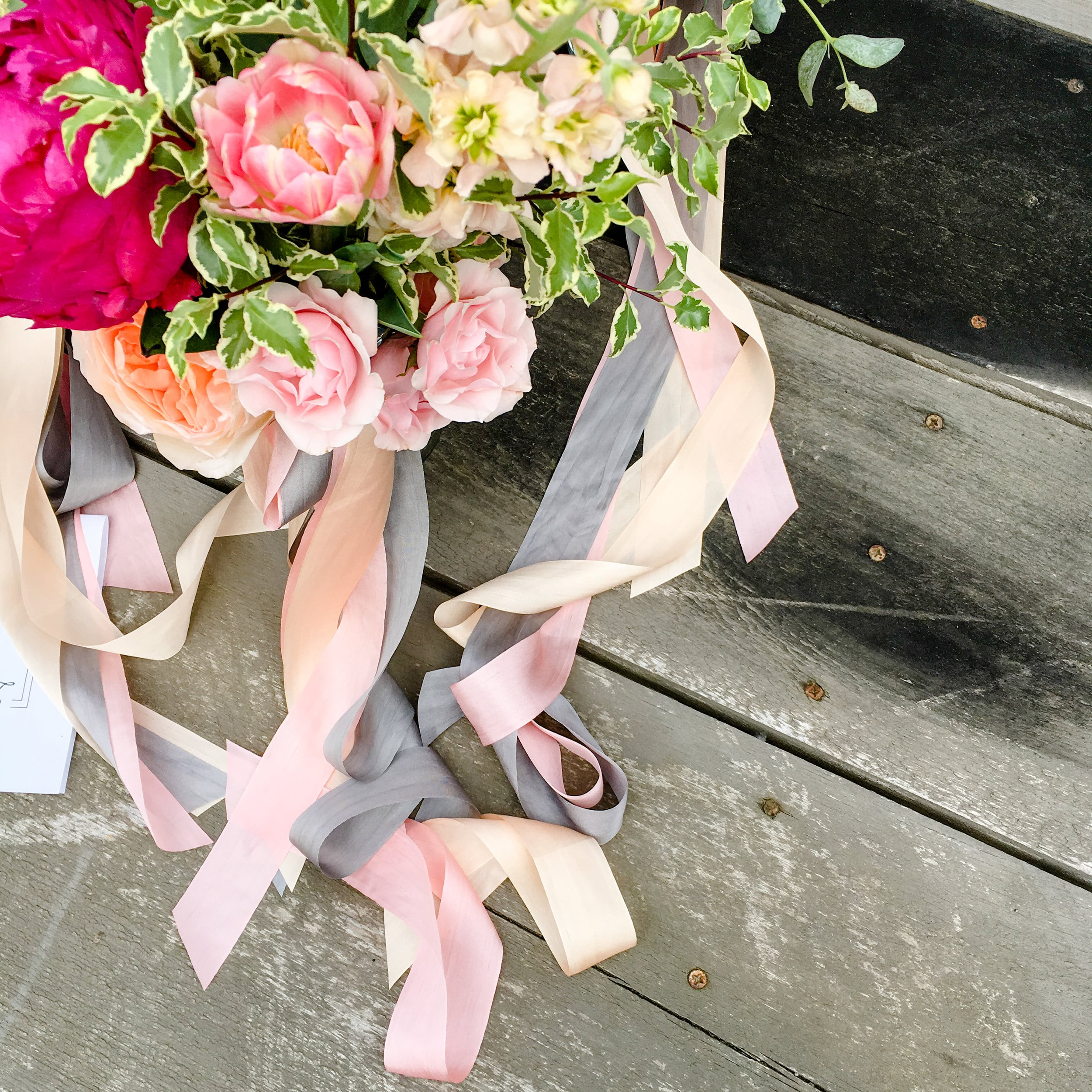 Wedding bouquet from Kennebunkport Hidden Pond Elopement